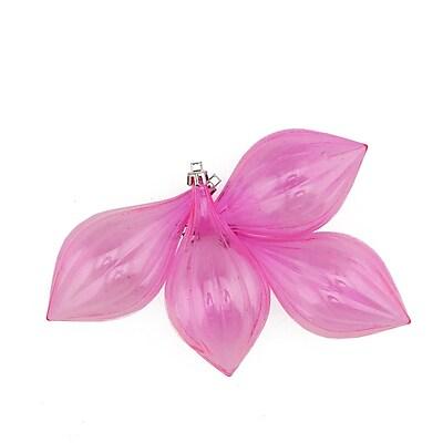 Northlight 4ct Bubblegum Pink Transparent Shatterproof Finial Christmas Ornaments 5