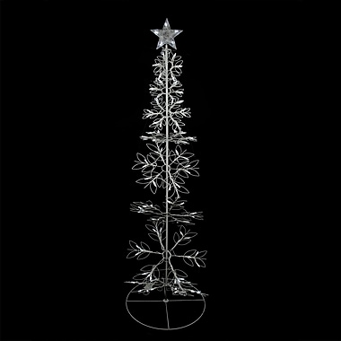Sienna 6' Cool White LED Lighted Outdoor Meteor Effect Snowflake Hoop Christmas Tree Yard Art Decoration (31742566)