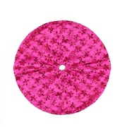 "Northlight 20"" Decorative Pink Sequin Snowflake Pattern Mini Christmas Tree Skirt (32230547)"
