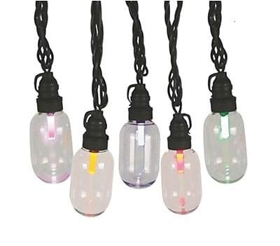GKI/Bethlehem Lighting Set 25 LED T11 Oblong Edison Style Multi-Color Christmas Lights - Black Wire (31758341)