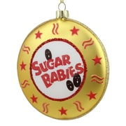 "Northlight 4"" Candy Lane Tootsie Roll Gold Sugar Babies Bite Size Caramel Candies Christmas Disc Ornament (31744238)"