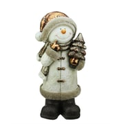 """Northlight 20"""" Copper and Cream Glitter Thinking Snowman Christmas Table Top Decoration (31739985)"""