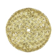 "Northlight 20"" Decorative Gold Sequin Snowflake Pattern Mini Christmas Tree Skirt (32230539)"