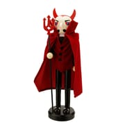 "Northlight 14"" Red Devil Decorative Wooden Halloween Nutcracker Holding a Pitch Fork (31741970)"
