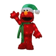 "Product Works 18"" Pre-Lit 3D Sesame Street Waving Elmo Christmas Yard Art Decoration - Clear Lights (32275290)"