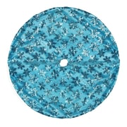 "Northlight 20"" Decorative Blue Sequin Snowflake Pattern Mini Christmas Tree Skirt (32230543)"
