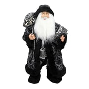 "Northlight 24"" Standing Santa Claus in Silver and Black with Gifts Christmas Figure (31734291)"
