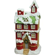 """Northlight 21.25"""" Christmas Morning Pre-Lit LED Snow Covered 2 Story House Musical Christmas Tabletop Figure (32260663)"""