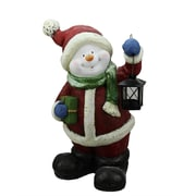 "Northlight 19"" Festive Glitter Snowman with Lantern Christmas Table Top Decoration (31740162)"