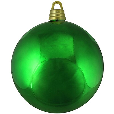 Northlight Shiny Xmas Green Commercial Shatterproof Christmas Ball Ornament 12