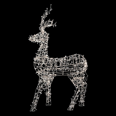 """""Northlight 60"""""""" White LED Lighted Standing Reindeer Outdoor Christmas Decoration - Warm White Lights (31740161)"""""" 24163696"