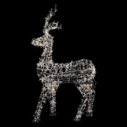 Northlight 60 inch White LED Lighted Standing Reindeer Outdoor Christmas...
