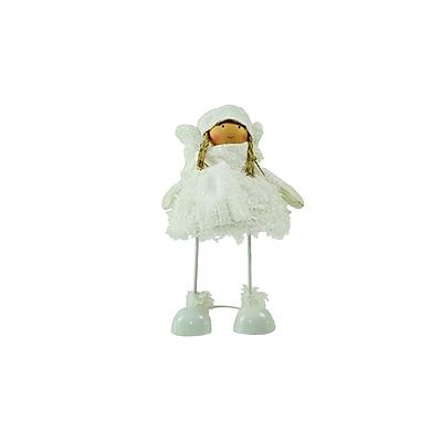 "Northlight 24"" Snowy Woodlands Plush White Angel Bobble Girl Christmas Figure (32256724)"