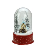 """Northlight 14"""" Lighted Musical Snowing Windmill Christmas Table Top Snow Dome (32266710)"""