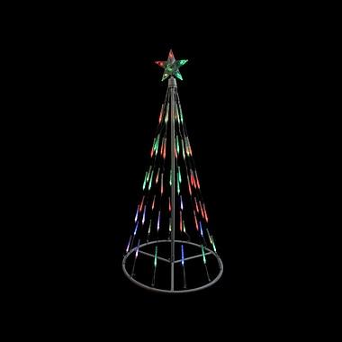 Northlight 4' White Single Tier Bubble Cone Christmas Tree Lighted Yard Art Decoration - Multi Lights (31736741)
