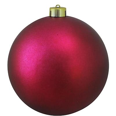Northlight Matte Red Raspberry UV Resistant Commercial Shatterproof Christmas Ball Ornament 6