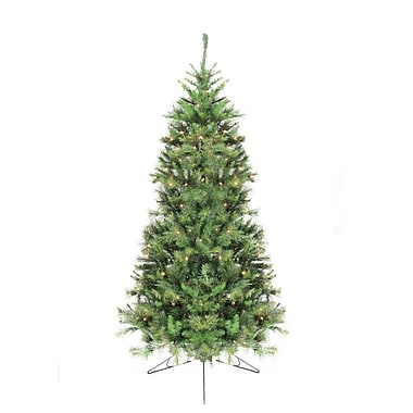 Northlight 7.5' Pre-Lit Canyon Pine Artificial Half Wall Christmas Tree - Clear Lights (32271946)