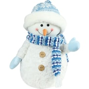 "Northlight 9.5"" Arctic Blue and White Snowman Wearing Knit Hat Christmas Decoration (32260153)"