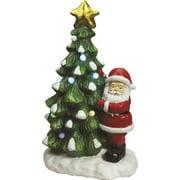 "Northlight 21.25"" Christmas Morning LED Lighted Musical Santa and Christmas Tree Tabletop Figure (32260157)"