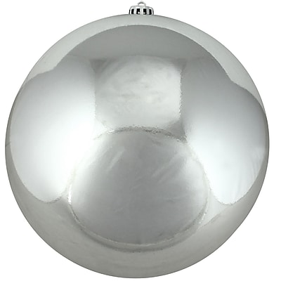 Northlight Shiny Silver Splendor Commercial Shatterproof Christmas Ball Ornament 6
