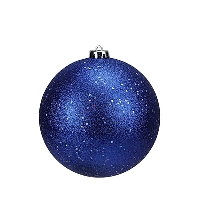 Northlight Shatterproof Lavish Blue Holographic Glitter Christmas Ball Ornament 6