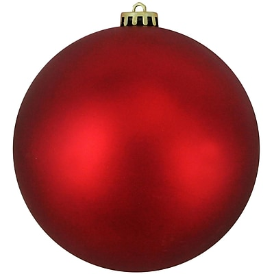 Northlight Matte Red Hot UV Resistant Commercial Shatterproof Christmas Ball Ornament 6