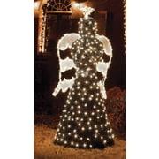 GKI/Bethlehem Lighting 6.5' Giant Commercial Grade LED Lighted Angel Topiary Yard Art Christmas Decoration (31729525)