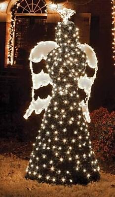 GKI/Bethlehem Lighting 6.5' Giant Commercial Grade LED Lighted Angel Topiary Yard Art Christmas Decoration (31729525)