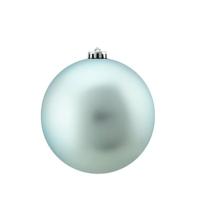 Northlight Commercial Shatterproof Matte Baby Blue Christmas Ball Ornament 6