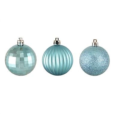 Northlight 100ct Baby Blue 3-Finish Shatterproof Christmas Ball Ornaments 2.5