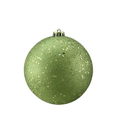 Northlight Green Kiwi Holographic Glitter Shatterproof Christmas Ball Ornament 6