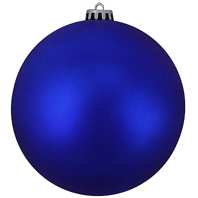 Northlight Matte Lavish Blue UV Resistant Commercial Shatterproof Christmas Ball Ornament 6