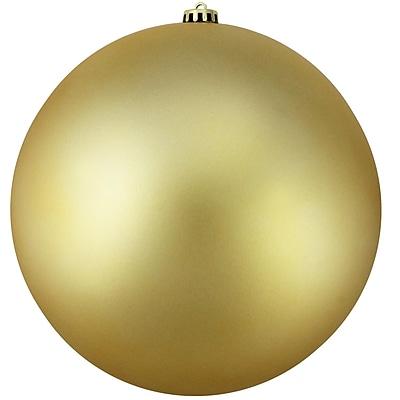 Northlight Matte Vegas Gold Commercial Shatterproof Christmas Ball Ornament 6