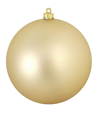 Northlight Matte Champagne Gold Commercial Shatterproof Christmas Ball Ornament 6