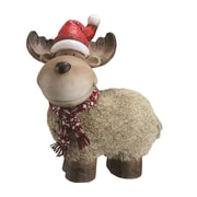 "Northlight 17.25"" Whimsical Reindeer with Nordic Style Scarf and Santa Hat Christmas Table Top Decoration (32261919)"