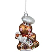 """Northlight 4.75"""" Gingerbread Kisses Glass Chef Decorative Christmas Ornament (31751812)"""