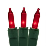 "GKI/Bethlehem Lighting Set of 50 Red Perm-O-Snap Mini Christmas Lights 6"" Spacing - Green Wire (31736183)"