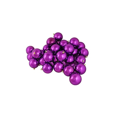 Northlight 12ct Shatterproof Shiny Light Magenta Pink Christmas Ball Ornaments 4