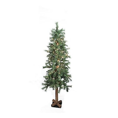 "Allstate 8' x 44"" Pre-Lit Traditional Woodland Alpine Artificial Christmas Tree - Clear Lights (31731054)"