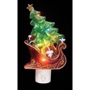 "Roman 7.5"" Sleigh with Christmas Tree and Presents Decorative Christmas LED Night Light (31751584)"