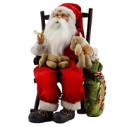 """Northlight 14.75"""" Animated Santa Claus in a Rocking Chair with Bears and Gift Bag (31734420)"""