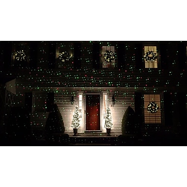 Northlight Outdoor Dynamic Red & Green Christmas Laser Light Projector with Remote Control (32264584)