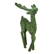 Northlight 6' Pre Lit Boxwood Standing Reindeer Christmas Yard Art...