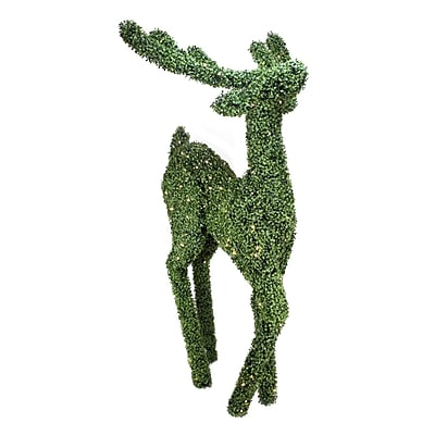 Northlight 6' Pre-Lit Boxwood Standing Reindeer Christmas Yard Art Decoration - Warm White LED Lights (31742328)