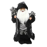 "Northlight 16"" Standing Santa Claus in Silver and Black with Gifts Christmas Figure (31734307)"