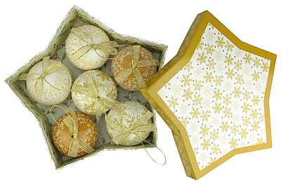 "Northlight 6-Piece Brown and White Decoupage Snowflake and Tree Shatterproof Christmas Ball Ornament Set 2.75"" (32207717)"