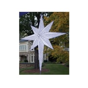 "GKI/Bethlehem Lighting 48"" LED Lighted White and Silver Moravian Star Commercial Christmas Tree Topper Decoration (31734315)"