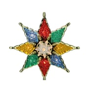 """Northlight 7.75"""" Lighted Multi-Color Mosaic Star Christmas Tree Topper - Clear Lights (31576671)"""