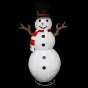 Northlight 72 inch Pre Lit Outdoor Chenille Swirl Large Snowman w/ Top Hat...