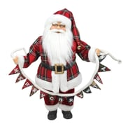 """Northlight 18"""" Santa Claus Holding a """"Merry Christmas"""" Banner Tabletop Decoration (31734319)"""